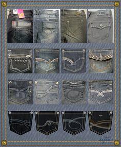 Design Fancy Back Pockets Jeans - Bing Images - Men's style, accessories, mens fashion trends 2020 Diy Jeans, Sewing Jeans, Denim Jeans Men, Jogger Pants Outfit, Denim Outfit, Mufti Jeans, Jeans Drawing, Polo Shirt Design, Body Suit Outfits