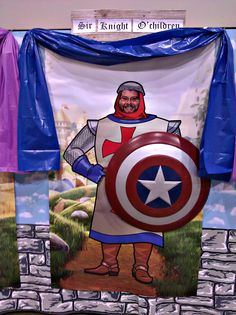 VBS Kingdom Rock 5 Giant Decorating Poster Pack: Knights (Replaced poster faces with North Clay Baptist Church Pastors) *Artist Tami Dalton*  See More About Artist: muralsbytami.com *http://tamidalton.deviantart.com/ http://www.facebook.com/fineartsbytami http://fineartamerica.com/art/all/tami+dalton/all