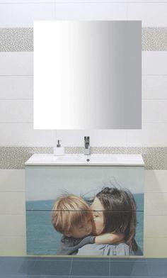 #Mueble de #baño personalizado con foto. De Lebana.