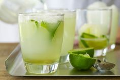 Simply add lemon sorbet to lime juice cordial for a unique and sweet beverage.