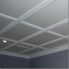 Possible Drop Ceiling Tile Idea I Like This Style Of A Lot More