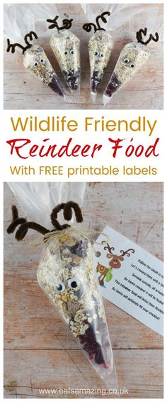 Wildlife and Bird Friendly Reindeer Food recipe with FREE printable labels - fun. Wildlife and Bird Friendly Reindeer Food recipe with FREE printable labels - fun and easy gift idea for kids to make thi. Christmas Fayre Ideas, Christmas Eve Traditions, Christmas Activities, Christmas Crafts For Kids, Christmas Fundraising Ideas, Christmas Stall Ideas, Festive Crafts, Christmas Games, Christmas Movies