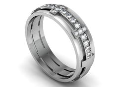 unique wedding rings for women | Unique & custom designed diamond wedding band - Women - Bands