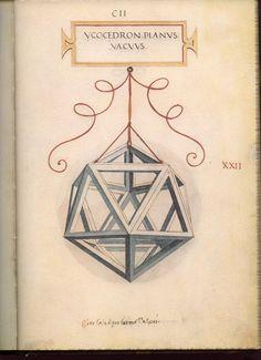 Leonardo da Vinci's Geometric Sketches - Icosahedron | Mathematical Association of America