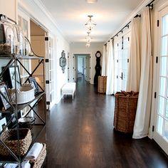 Black French Doors - Contemporary - entrance/foyer - Dowling Kimm Studios