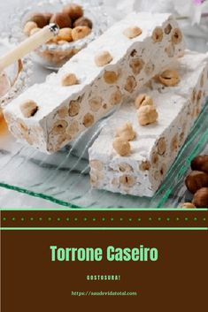 Torrone Caseiro Christmas Dishes, Christmas Treats, Homemade Candies, Holiday Desserts, Different Recipes, Confectionery, Food Truck, Cooking Time, Fudge