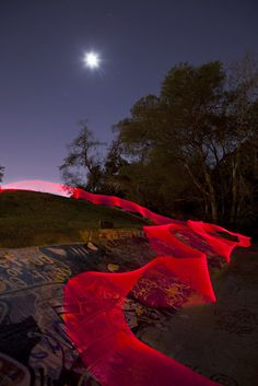 Light Painting in a Skatepark with Long Exposure
