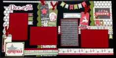 Ho ho ho! It's almost Christmas so why not get a jump start on your Christmas layouts! This holly jolly 12x12 two page layout was created using