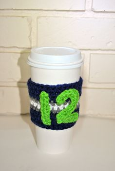 Oh yea. 12th Man Crochet Coffee Cozy!
