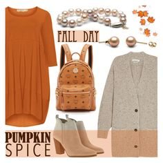 """""""Pumpkin Spice Style"""" by pearlparadise ❤ liked on Polyvore featuring Étoile Isabel Marant, Isolde Roth, MICHAEL Michael Kors, MCM, contestentry, pss, pearljewelry and pearlparadise"""