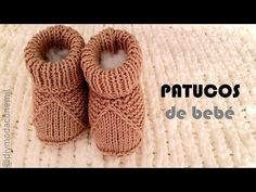 How to knit baby booties Knitted Baby Boots, Baby Booties Knitting Pattern, Crochet Baby Sandals, Crochet Baby Shoes, Crochet Baby Booties, Baby Knitting Patterns, Baby Bootees, Diy Mode, Baby Slippers