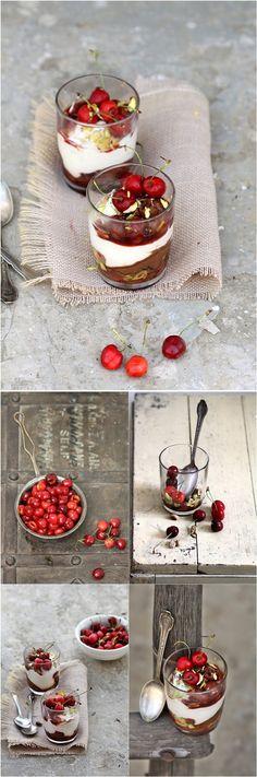 Fresh Cherry Quark Nutella Verrines