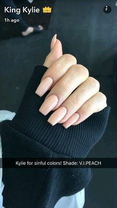 Kylie's sinful nail polish color sc