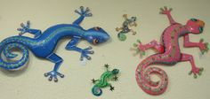 Handcrafted steel drum gecko art from Haiti.  We have a large selection of Fair Trade Items.