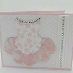 Ballerina card using Stampin' Up! Punches