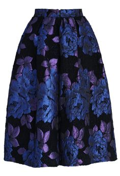 Phantom Roses Pleated Midi Skirt - New Arrivals - Retro, Indie and Unique Fashion