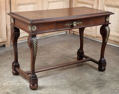 Antique French Empire Period Writing Table | Antique Furniture | www.inessa.com #desk #empire #furniture