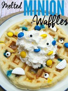 To celebrate the Minions, we were inspired to create these fun melted Minion waffles. This is a fun breakfast on your movie day or any day of the year. It doesn't even have to be for breakfast, it can be for any meal of the day!