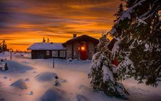 Beautiful Winter Sky wallpapers Wallpapers) – Wallpapers For Desktop Winter Cabin, Winter Sunset, Winter Scenery, Beautiful Winter Pictures, Nature Pictures, Snow Clouds, Hdr Photography, Mobile Photography, Sunset Wallpaper