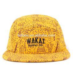 5013a953fb1 2017 New Fashion yellow 5 panel hat blank