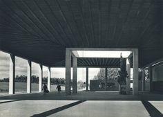 Gunnar Asplund. Skogskyrkogarden Crematorium Portico, 1940