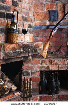 Incredible Brick Fireplace