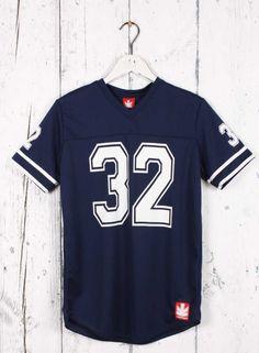 Kaotiko BCN – Moda hombre - Camiseta MC H RUGBY 32 MARINO/BLANCO