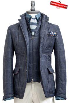 Rain-Resistant Detachable Vest Wool Jacket , Jackets - MONTEZEMOLO, MONTEZEMOLO - 1
