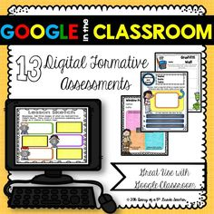 Use 13 Google Digital Formative Assessments with any subject. Great to use with Google Classroom! $