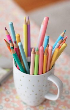 Color pencils...so cheerful
