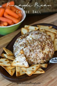 Pineapple Pecan Cheese Ball by Tastes of Lizzy T
