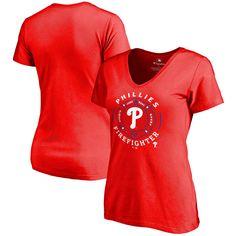 Philadelphia Phillies Women's Firefighter Slim Fit T-Shirt - Red - $24.99