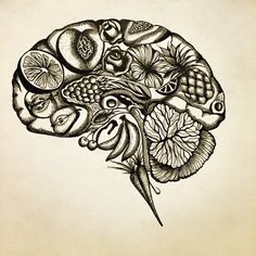 adrianadallavalle:  The Vegan Brain By Adriana Dallavalle Ink...