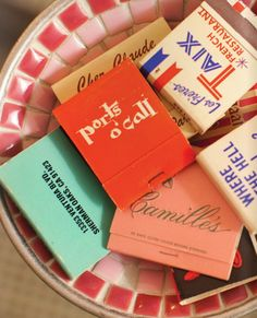 vintage matchbooks..cute thing to collect