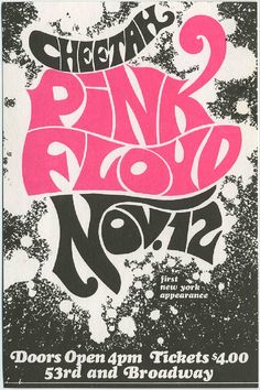 Pink Floyd's first New York City appearance at the Cheetah Club, November 12, 1967