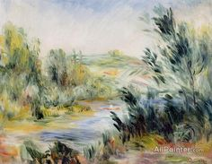 Pierre Auguste Renoir The Banks Of A River, Rower In A Boat oil painting reproductions for sale