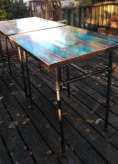 custom pub table cafe table bistro table colorful patina & architectural salvage store - 1758 Empire Central DallasTexas 75235 ...