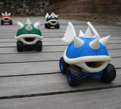 Mario koopa shells in the form of RC cars. Yes, please. I sense a new project coming on.
