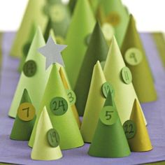 Advent calendars--Thinking something like this would be cute on the mantle...