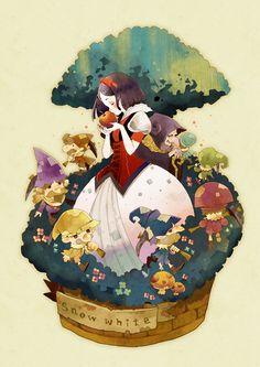 Snow White and the Seven Dwarfs Mobile Wallpaper - Zerochan Anime Image Board Disney Fan Art, Disney Love, Disney Magic, Disney E Dreamworks, Disney Pixar Movies, Disney Cartoons, Animation Disney, Animation Film, Snow White Art