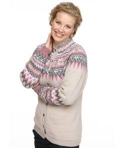 Viking of Norway, Sonja-koften, undefined Fair Isle Knitting Patterns, Fair Isle Pattern, Crochet Patterns, Sweater Patterns, Vikings, Norwegian Knitting, Cardigan Design, Nordic Sweater, Schneider