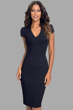 Hollywood Ending Pure Color Pencil Dress Pencil Dress Outfit, Dress Outfits, Casual Dresses, Fashion Dresses, Pencil Dresses, Stylish Summer Outfits, Classy Outfits, Pretty Dresses, Beautiful Dresses