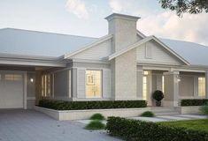Hamptons Style Decor, Hamptons House, Facade Design, House Design, Building Design, Building A House, American Style House, Facade House, House Facades