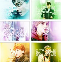 Harry Potter. The golden trio