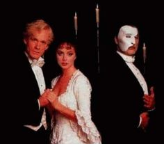 Left to Right: the late Steve Barton (Raoul), Sarah Brightman (Christine), and Sir Michael Crawford (Erik) <3