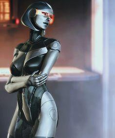 edi mass effect Cyborg Girl, Female Cyborg, Cyberpunk Girl, Cyberpunk Character, Mass Effect Characters, Female Characters, Edi Mass Effect, Body Painting, Mass Effect Universe