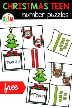 """If you're looking for some Christmas themed math activities, students will love """"decorating"""" these festive number trees! The math puzzles focus on the numbers 0 to 10 and are a perfect way for students to practice counting and number recognition this holiday season."""