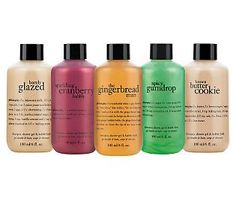 philosophy taste of holiday 3-in-1 shower gel 5 pc collection:  everyone loves getting these any time of year