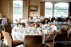 Wedding reception at Stage Neck Inn, photo by @durginphoto