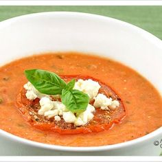 Creamy Tomato Soup With Goat Cheese